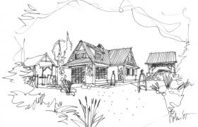 Prvá skica domu…