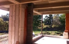 ŽB trámový strop obývačky