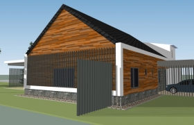 Takto bol dom navrhnutý v štúdii