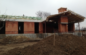 Z výstavby – Celkový pohľad na rozostavaný dom