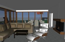 Z budúceho interiéru s výhľadom na mesto