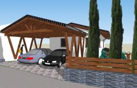 Model – Parkovanie pod prístreškom