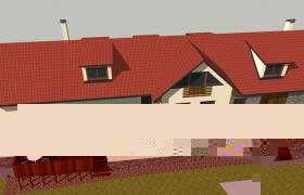 Model domu po obnove zo štúdie